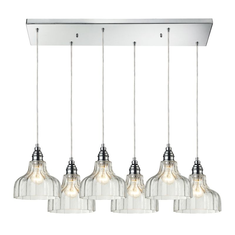 "ELK Lighting 46018/6RC Danica 6 Light 30"" Wide Multi Light Pendant"
