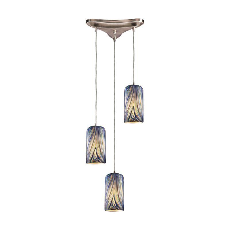 "ELK Lighting 544-3 Molten 3 Light 10"" Wide Multi Light Pendant with"