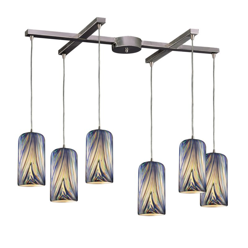 "ELK Lighting 544-6 Molten 6 Light 33"" Wide Multi Light Pendant with"
