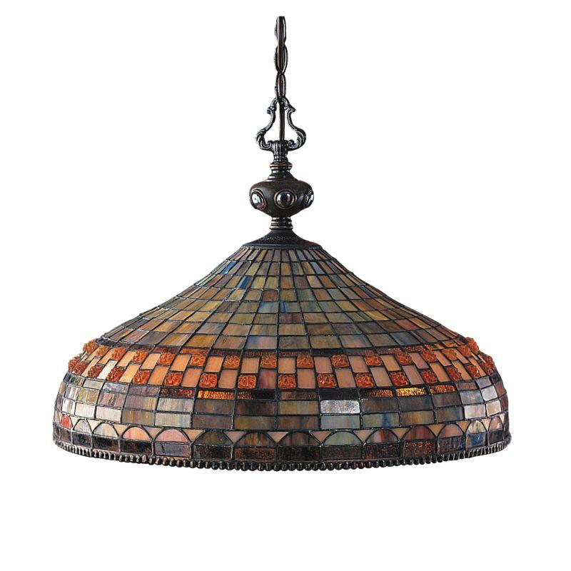 ELK Lighting 611 Jewelstone Three-Light Pendant Classic Bronze Indoor