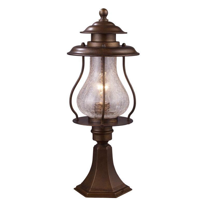 ELK Lighting 62007 Wikshire Single-Light Outdoor Post Mount in Coffee