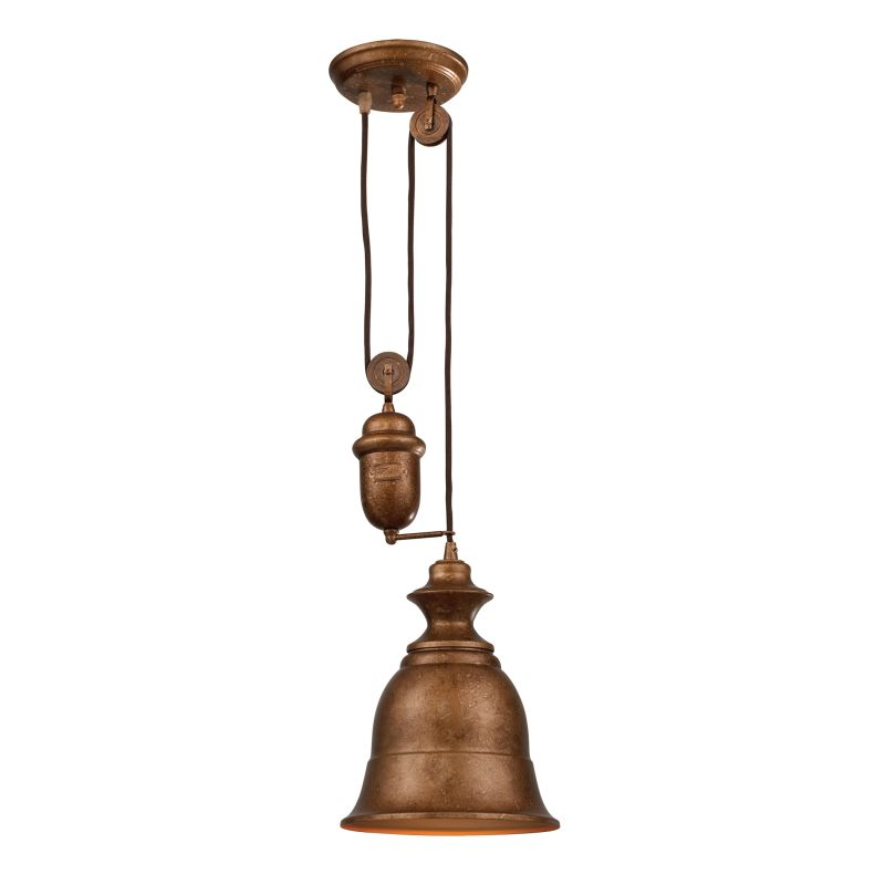"ELK Lighting 65060-1 Farmhouse Single Light 8"" Wide Mini Pendant with"