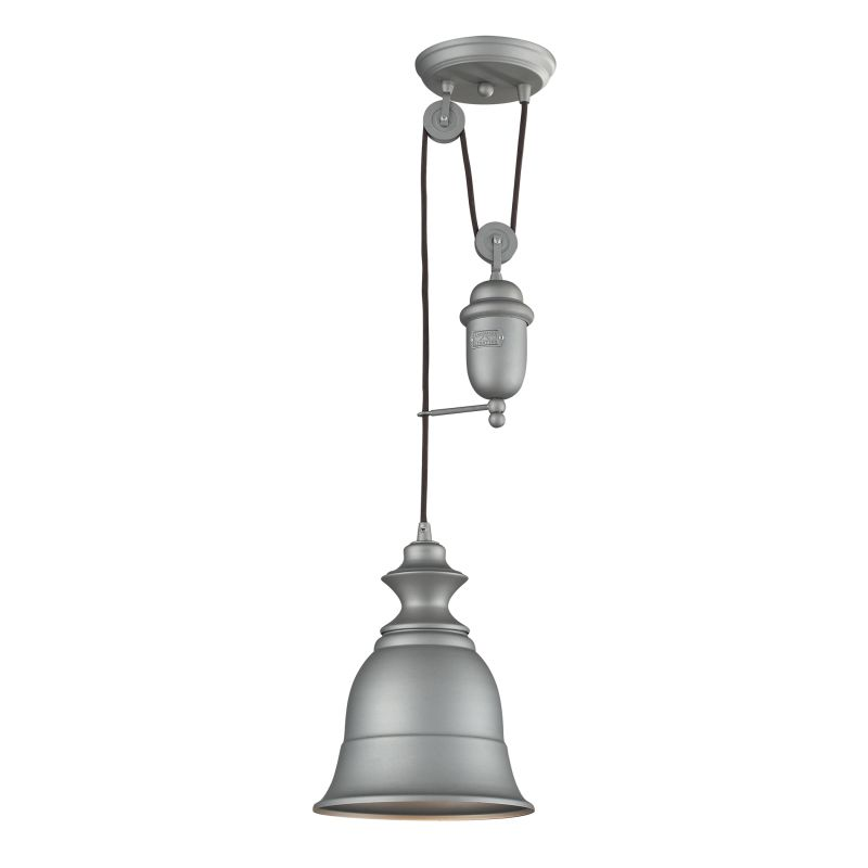 "ELK Lighting 65080-1 Farmhouse Single Light 8"" Wide Mini Pendant with"