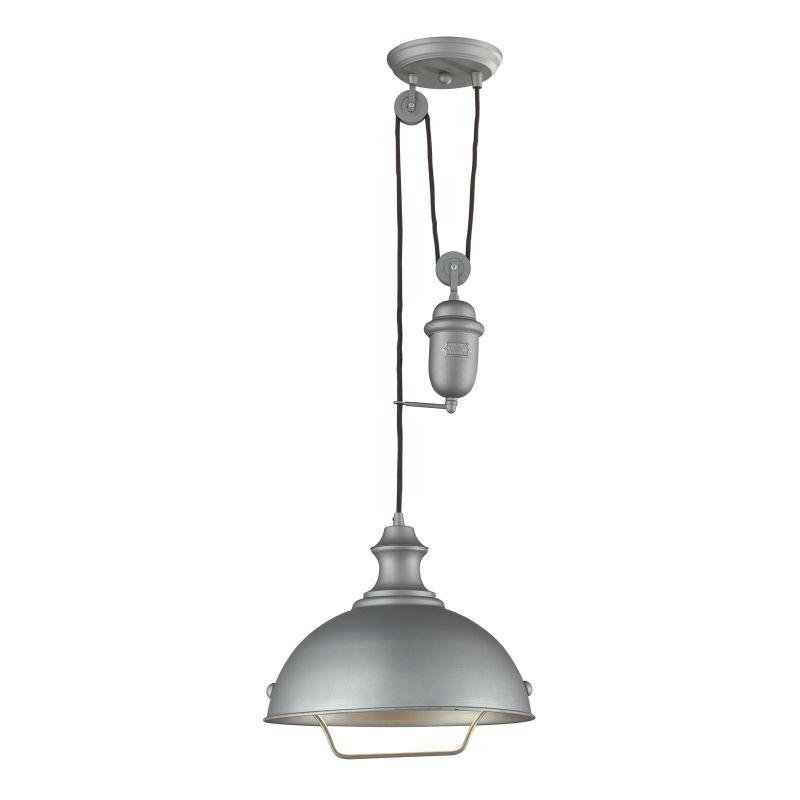 "ELK Lighting 65081-1 Farmhouse Single Light 14"" Wide Pendant with"