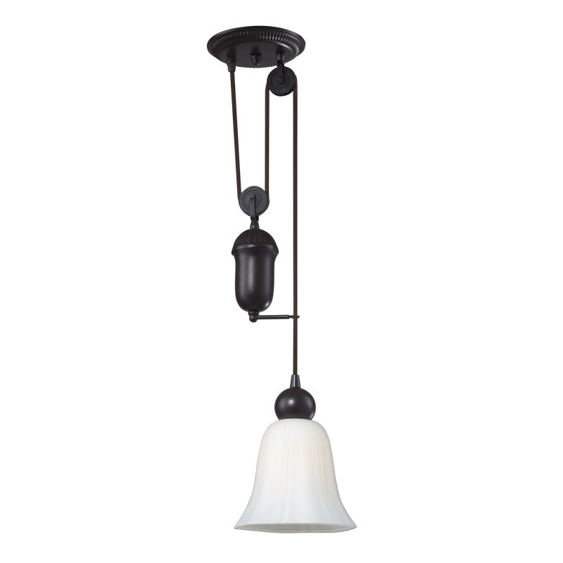 "ELK Lighting 65090-1 Farmhouse Single Light 7"" Wide Mini Pendant with"