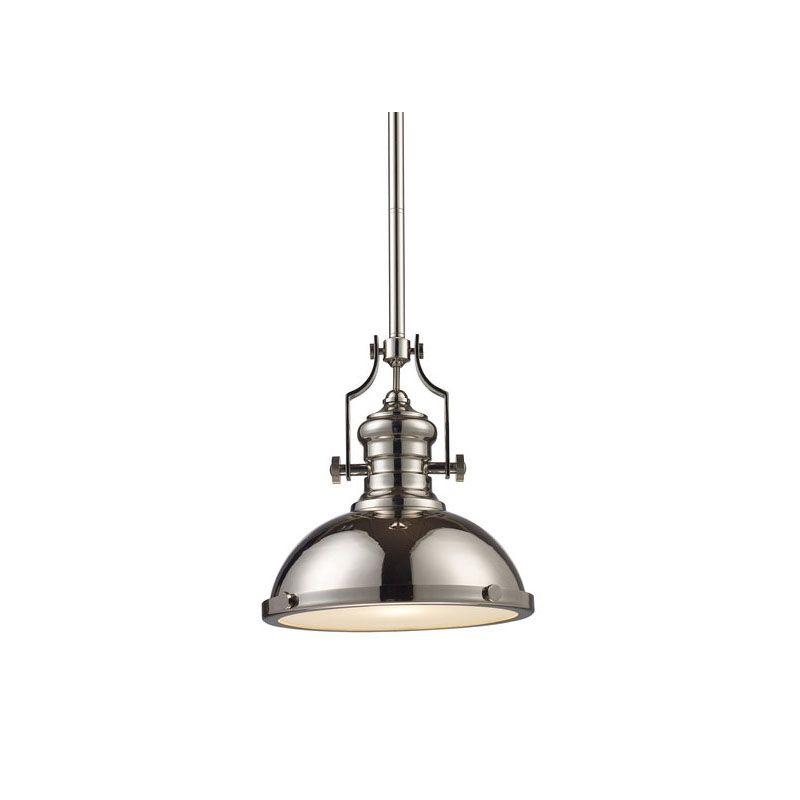 ELK Lighting 66114-1 Polished Nickel Industrial Chadwick Pendant Sale $274.00 ITEM: bci2220714 ID#:66114-1 UPC: 830335010470 :