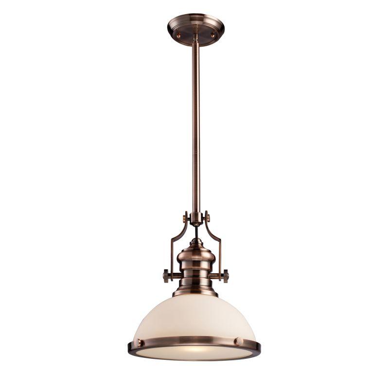 "ELK Lighting 66143 Chadwick Single Light 13"" Wide Pendant with Round"