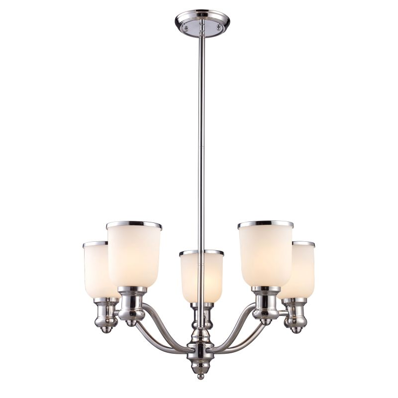 ELK Lighting 66153 Brooksdale Five-Light Chandelier in Polished Chrome Sale $422.00 ITEM: bci2220780 ID#:66153-5 UPC: 830335010678 :