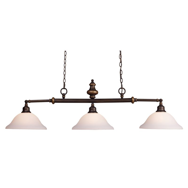ELK Lighting 66175 Lurray Three-Light Chandelier in Aged Bronze Aged