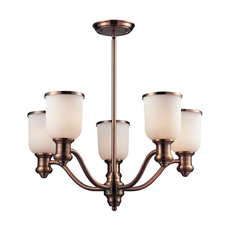 ELK Lighting 66183-5 Brooksdale Five-Light Chandelier in Antique