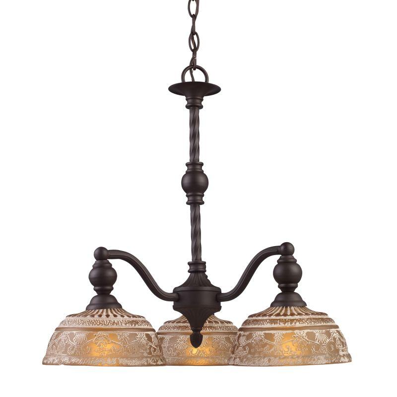 ELK Lighting 66196 Norwich Three-Light Chandelier in Oiled Bronze