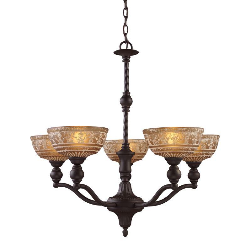 ELK Lighting 66197 Norwich Five-Light Chandelier in Oiled Bronze Oiled