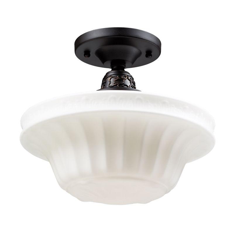 ELK Lighting 66221-1 Quinton Parlor Single-Light Semi-Flush Ceiling