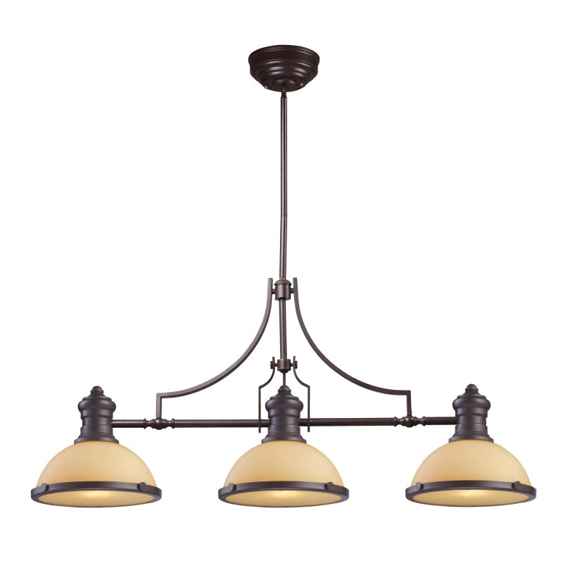 Elk Lighting 66235 3 Oiled Bronze Chadwick Three Light