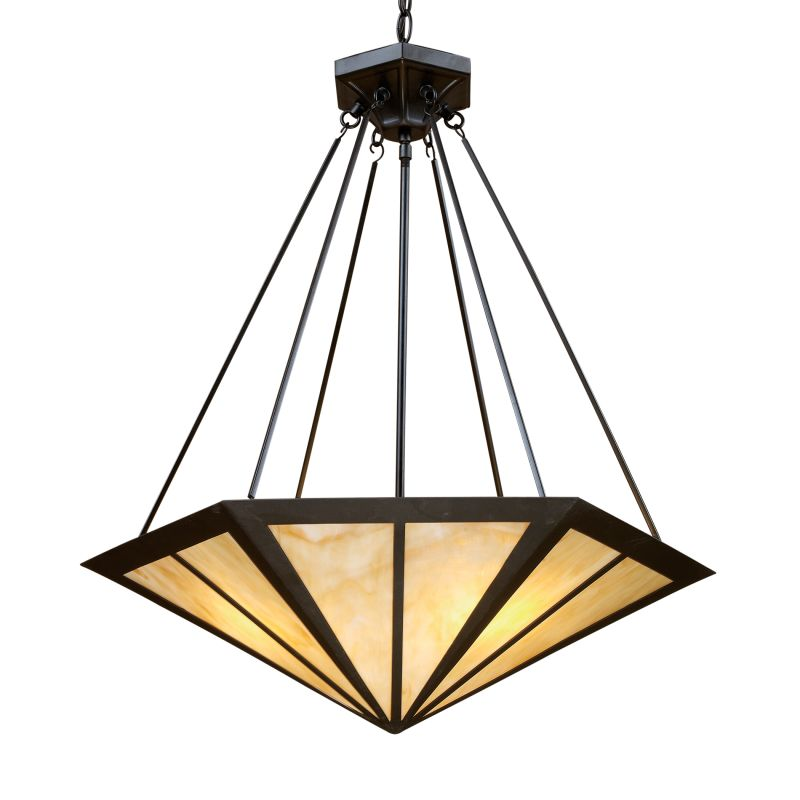 ELK Lighting 70107-3 Oak Park Three-Light Bowl Pendant Tiffany Bronze