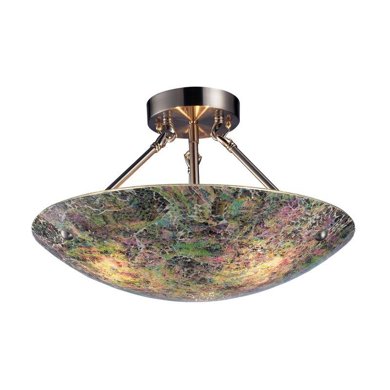 ELK Lighting 73022-3 Avalon Three-Light Bowl Pendant with Hand Painted