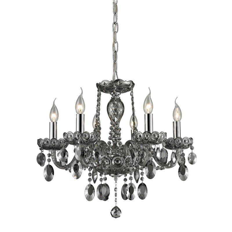 ELK Lighting 80042/6 Balmoral Six-Light Single-Tier Chandelier Smoke Sale $727.00 ITEM: bci2220751 ID#:80042/6 UPC: 748119036861 :