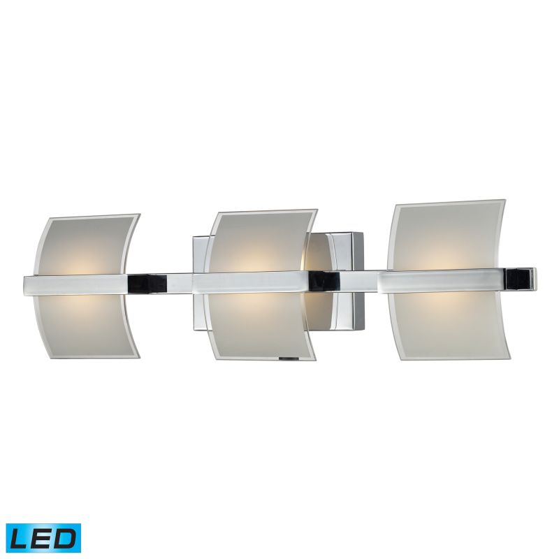 "ELK Lighting 81032/3 Epsom 3 Light 25"" LED Vanity Fixture with Frosted"