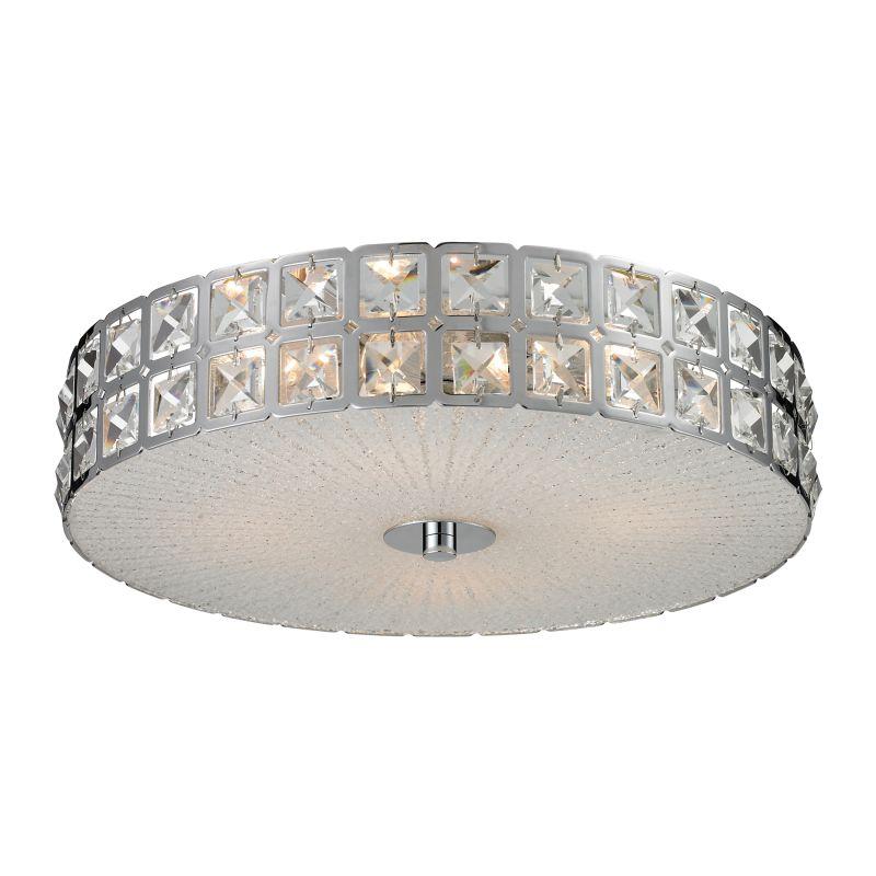Titan Lighting Tiffany Buckingham 4 Light Ceiling Mount: ELK Lighting 81081/4 Chrome Wickham Four-Light Flushmount