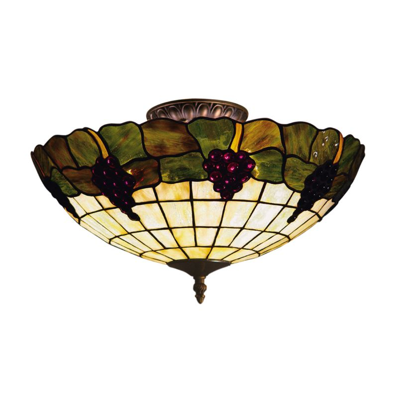 ELK Lighting 931 Grapevine Three-Light Semi-Flush Ceiling Fixture