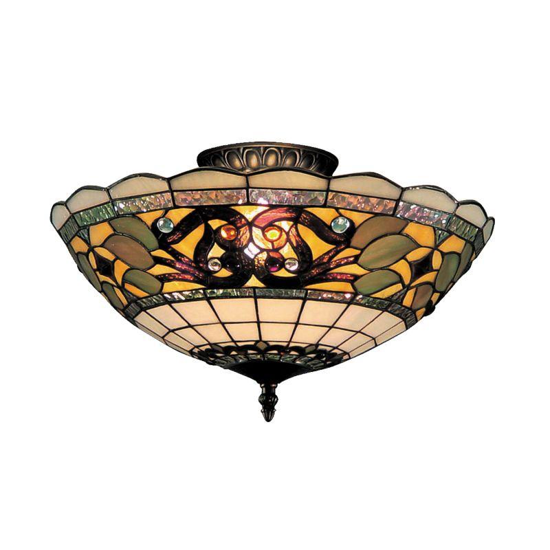 Titan Lighting Tiffany Buckingham 4 Light Ceiling Mount: ELK Lighting 941-TB Vintage Antique Buckingham Three-Light