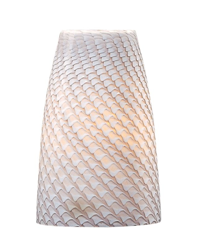 ET2 EG90439 Single Tall Glass Shade from the Carte Collection Ripple