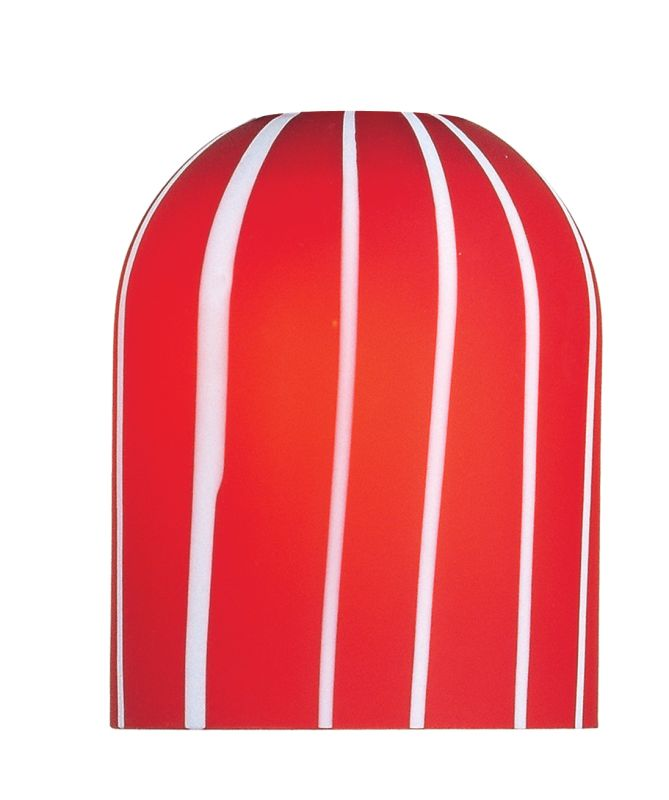 ET2 EG90903 Single Striped Dome Glass Shade from the Carte Collection