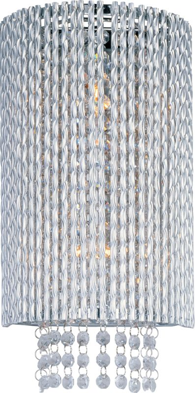 ET2 E23131-10PC Polished Chrome Contemporary Spiral Wall Sconce