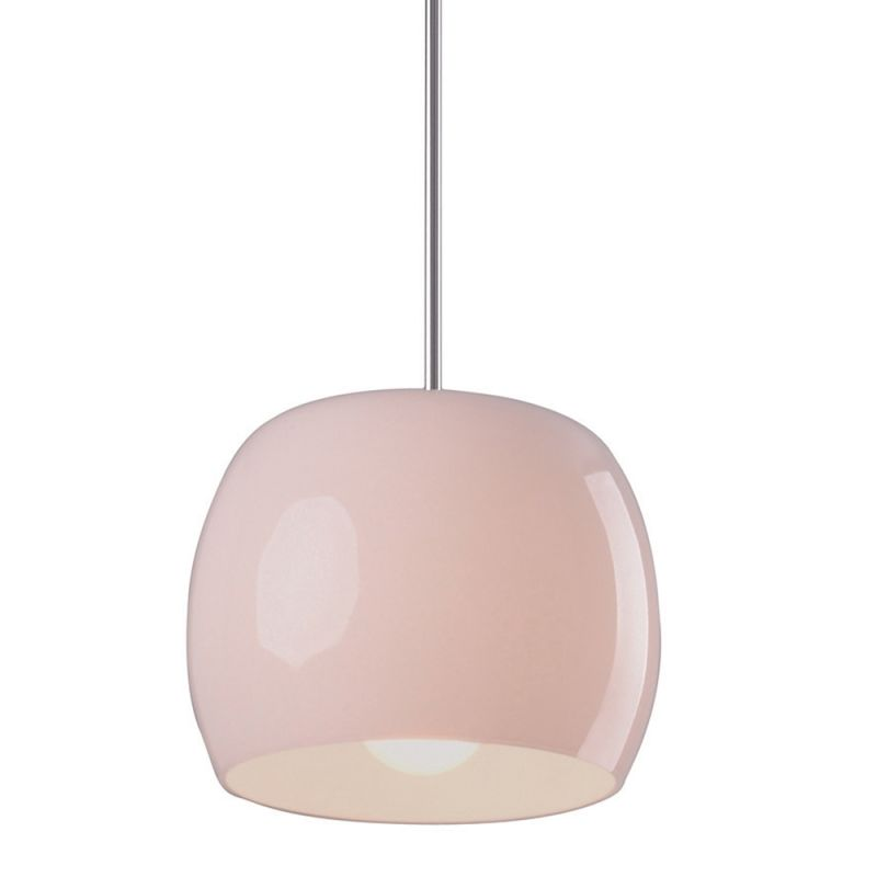 """ET2 E20054 1 Light 8"""" Wide Pendant from the Caps Collection White"""
