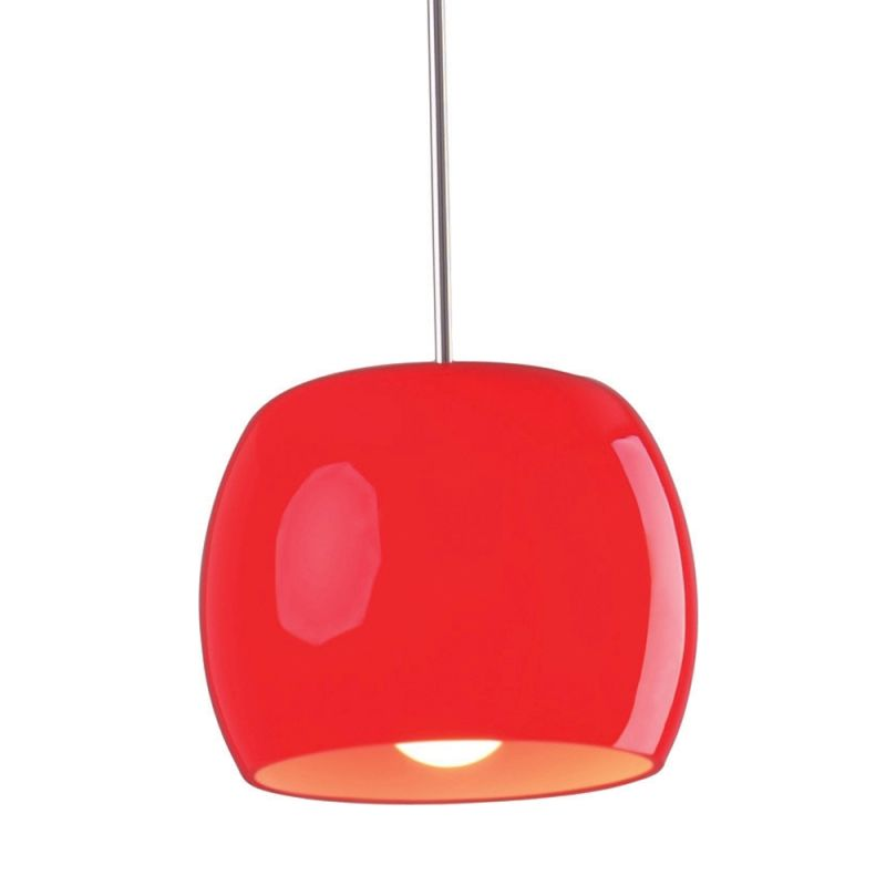 """ET2 E20054 1 Light 8"""" Wide Pendant from the Caps Collection Red Gloss"""