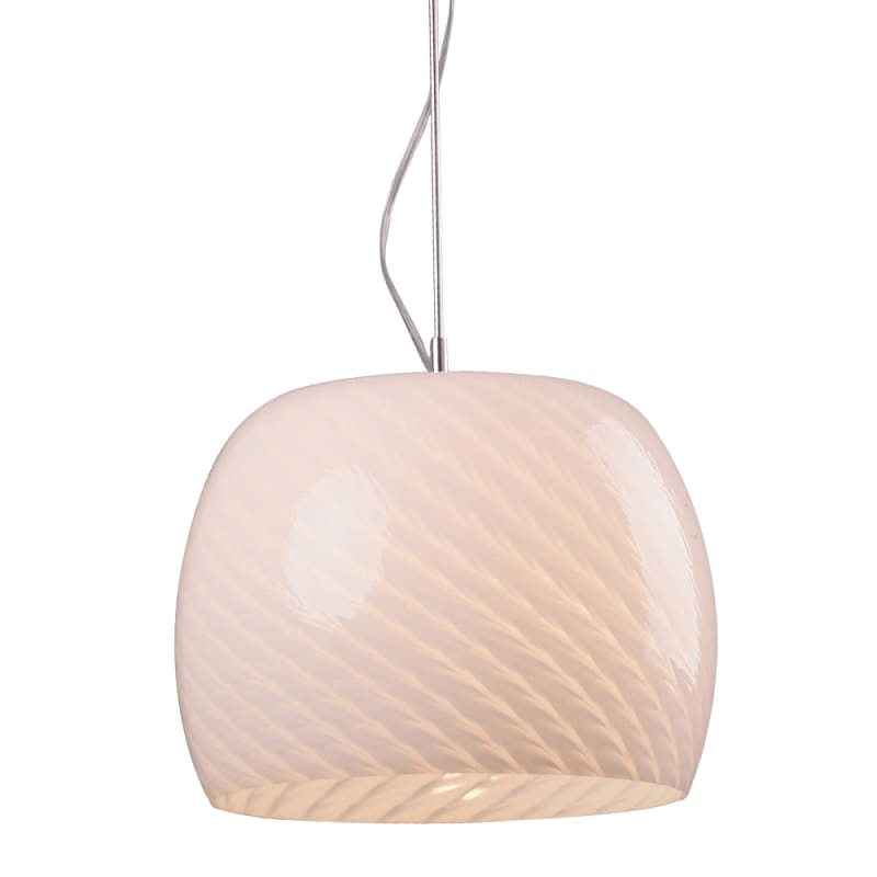 ET2 E20150-13 White Ripple Contemporary Ripple Pendant