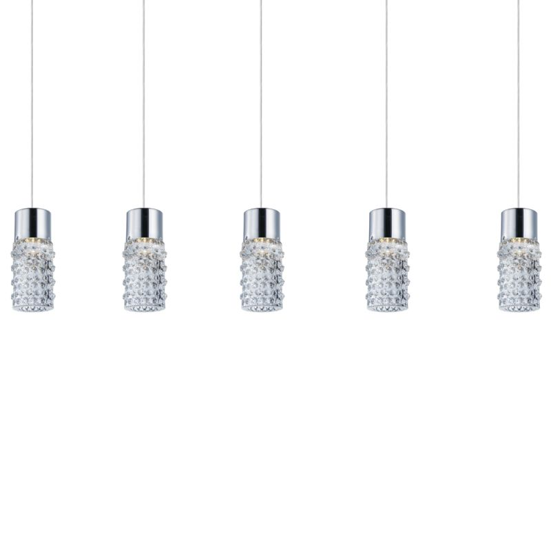 "ET2 E20775 5 Light 38"" Wide Pendant from the Polka Collection Polished"