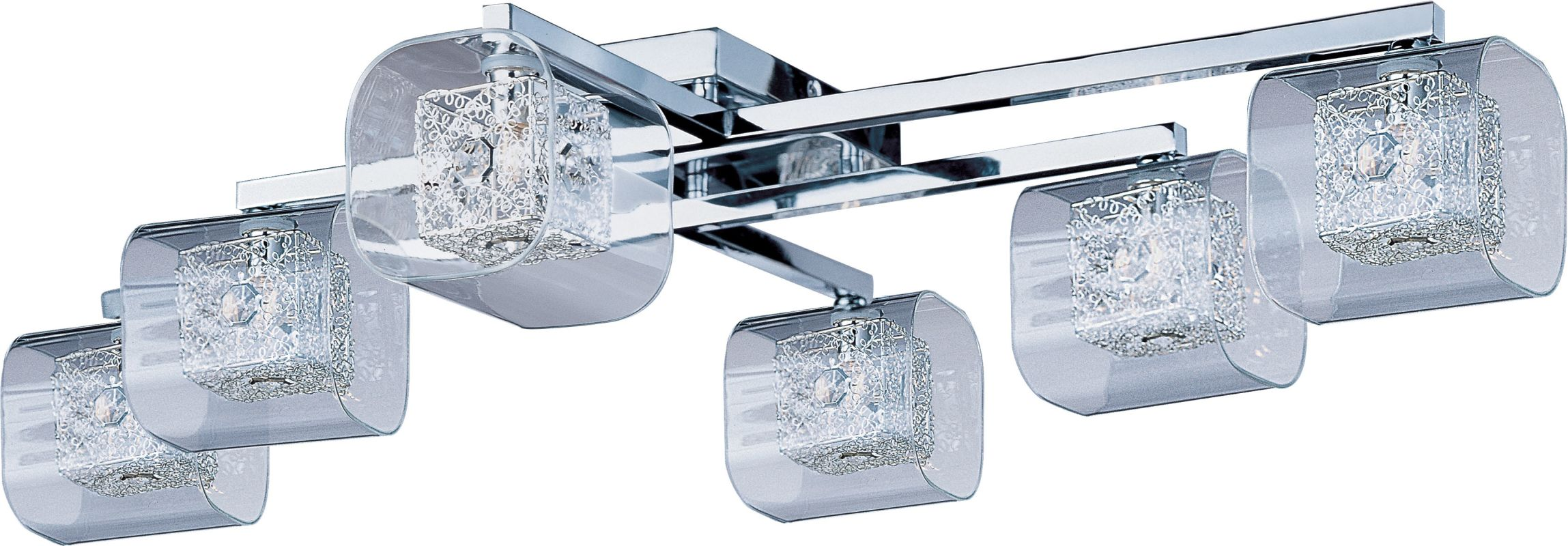 ET2 E22836-18 6 Light Flush Mount Ceiling Fixture from the Gem