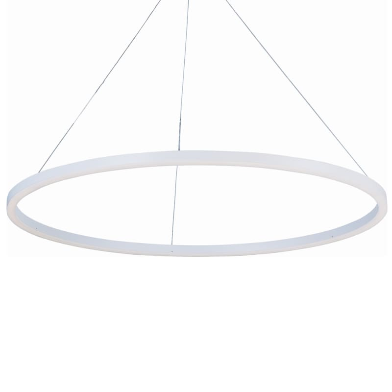 "ET2 E22845 40"" Wide LED Pendant from the Cirque Collection Matte White"