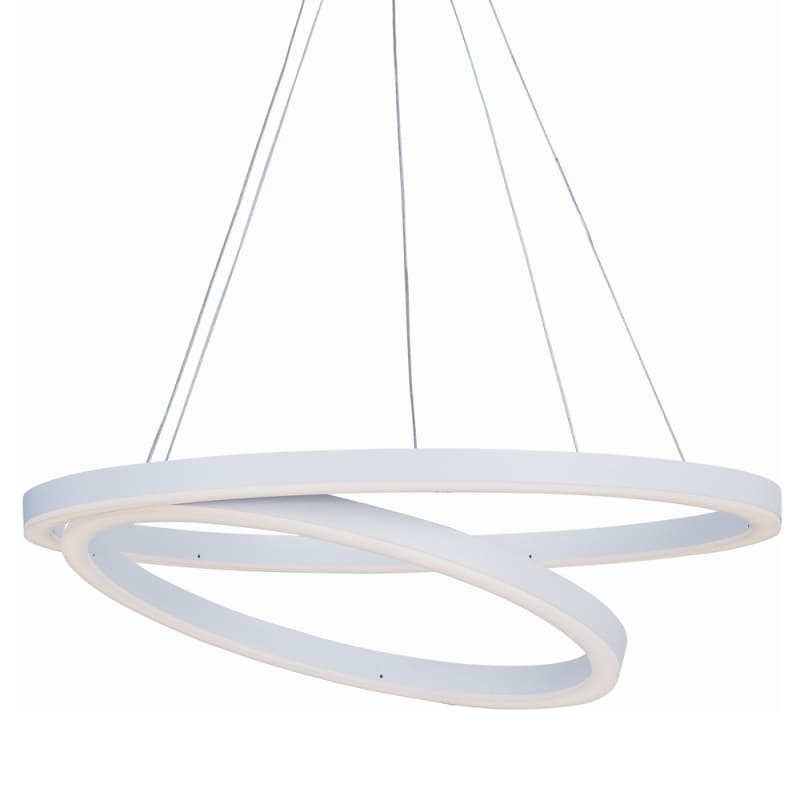 "ET2 E22847 24"" Wide LED Pendant from the Cirque Collection Matte White"