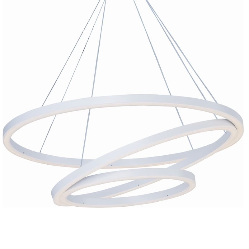 "ET2 E22848 32"" Wide LED Pendant from the Cirque Collection Matte White"