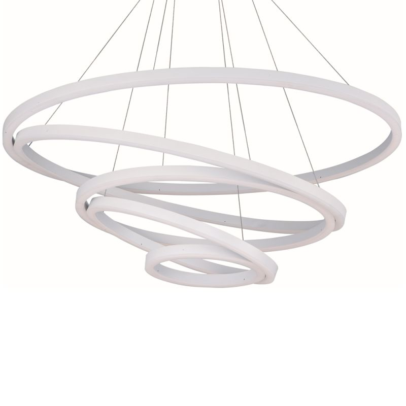 "ET2 E22849 39"" Wide LED Pendant from the Cirque Collection Matte White"