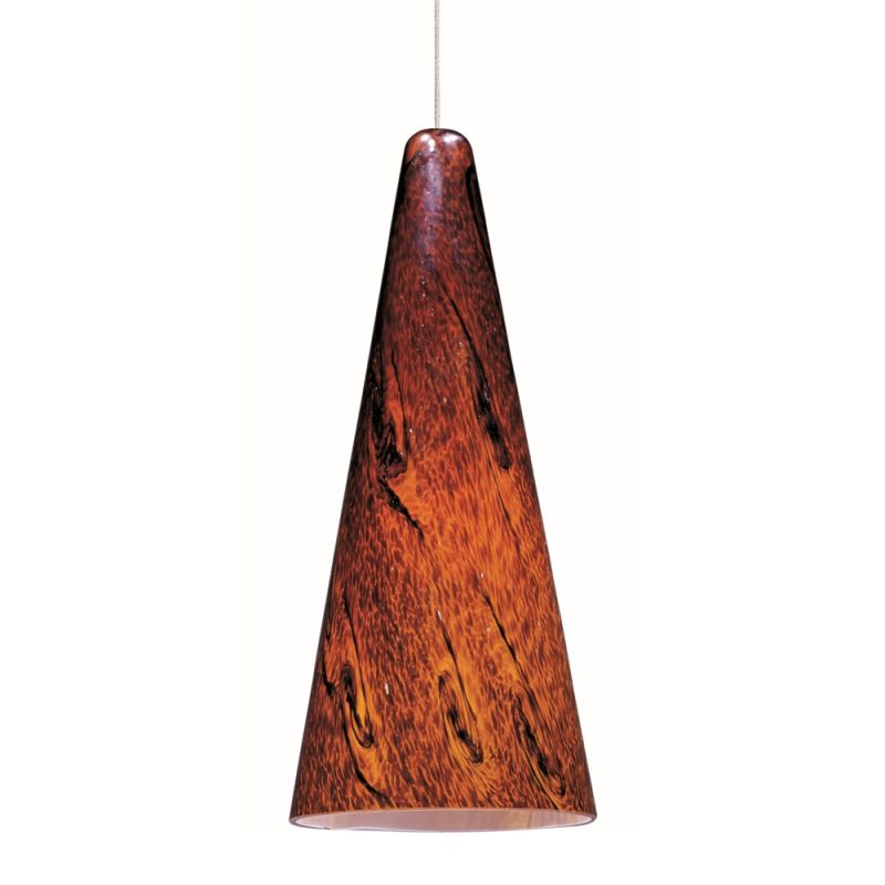 """ET2 E94329-102 1 Light 6"""" Wide Pendant From The Lava Collection Satin"""