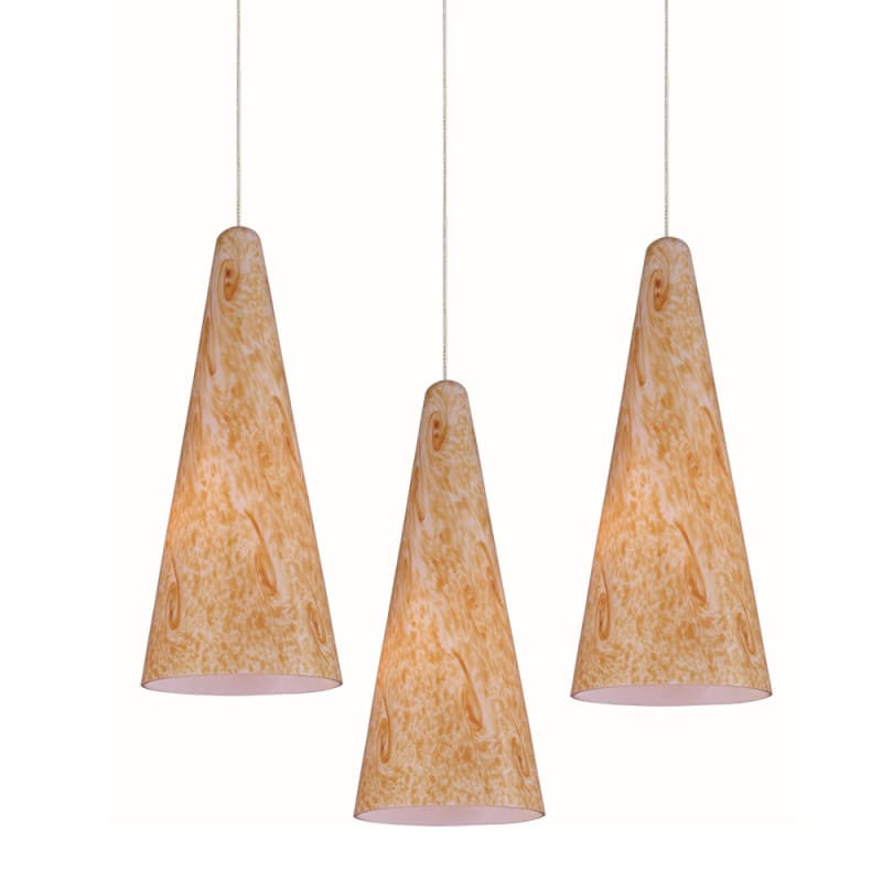 """ET2 E94630-103 3 Light 12"""" Wide Pendant From The Lava Collection"""