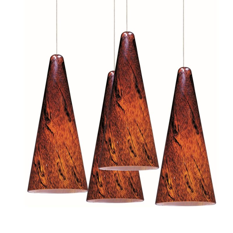 """ET2 E94729-102 4 Light 11"""" Wide Pendant From The Lava Collection"""