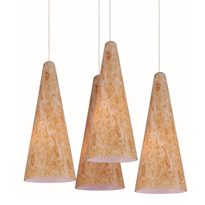 """ET2 E94730-103 4 Light 11"""" Wide Pendant From The Lava Collection"""