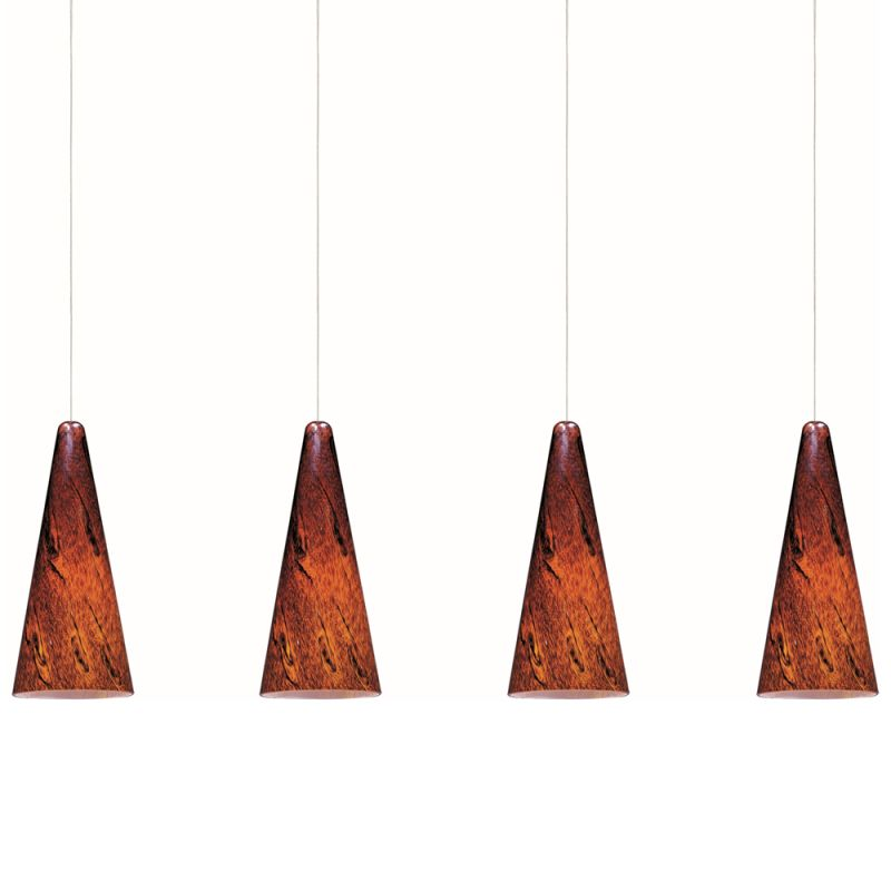 """ET2 E94929-102 4 Light 35"""" Wide Pendant From The Lava Collection"""