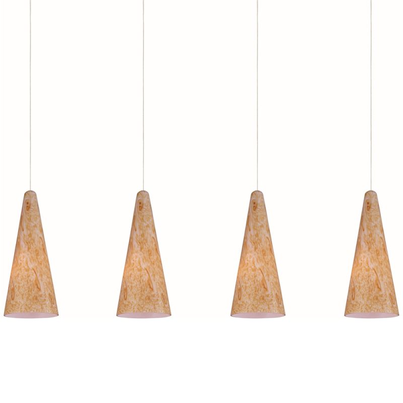 """ET2 E94930-103 4 Light 35"""" Wide Pendant From The Lava Collection"""