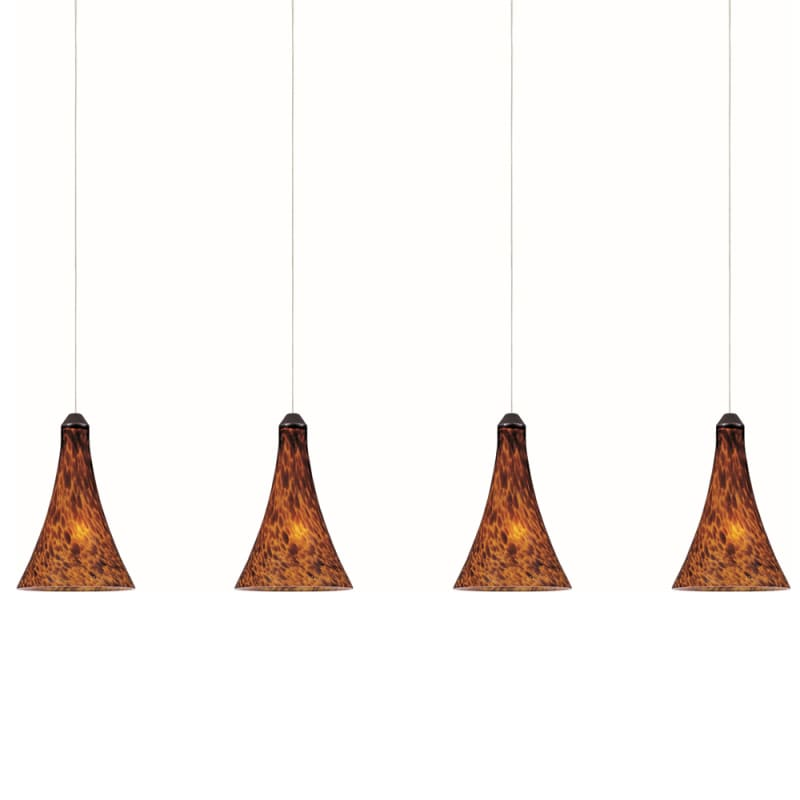"""ET2 E94931-104 4 Light 35"""" Wide Pendant From The Leopard Collection"""