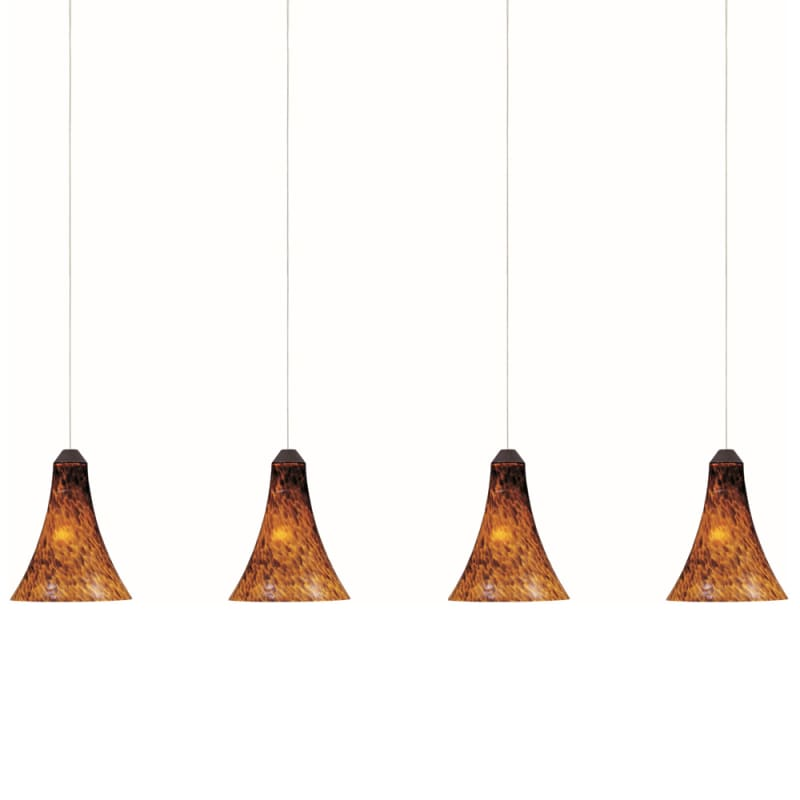 """ET2 E94933-104 4 Light 25"""" Wide Pendant From The Leopard Collection"""