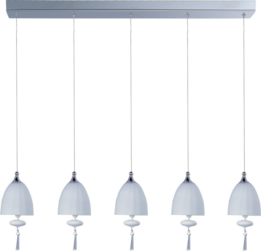 ET2 E24355-11 5 Light Adjustable Height Chandelier from the Chute