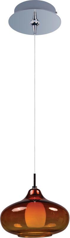 ET2 E94548-141PC Chrome with Amber Glass Contemporary Minx Pendant