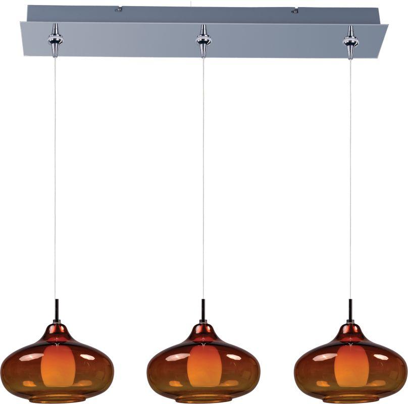 ET2 E94848-141PC Chrome with Amber Glass Contemporary Minx Pendant