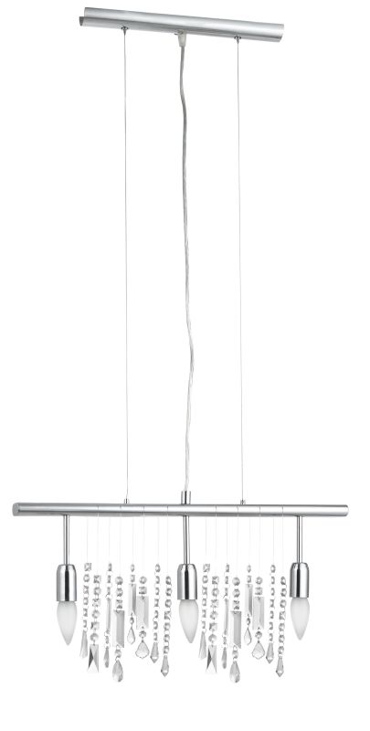 Eglo 20678A Vitoria 3x60W Trestle Hanging Light in Chrome Finish