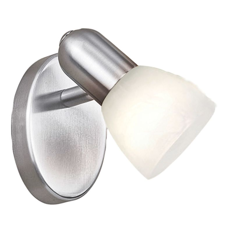 "Eglo 27321 Dakar Single Light 5"" Wide Wall Sconce with White Glass"